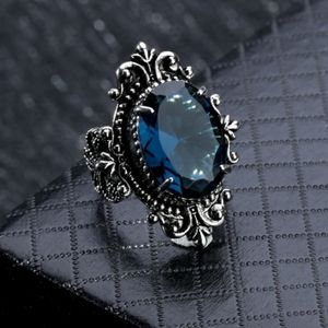 925 Victorian Gothic Sapphire Ring